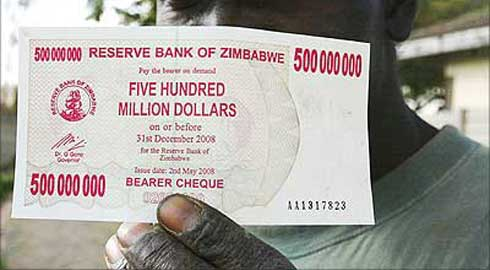 Inflation in Zimbabwe hits 100,000%