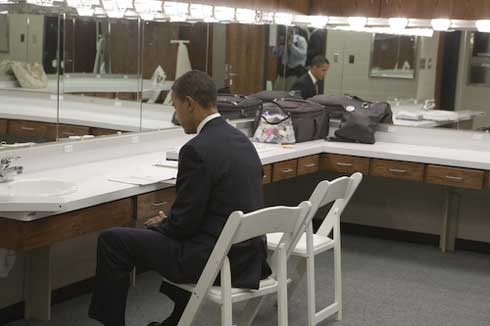 Even president Barack Obama prepares for his speeches!
