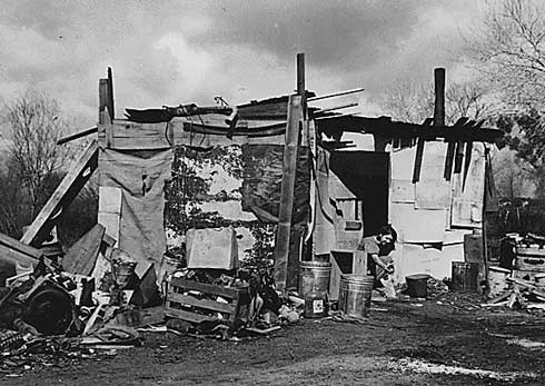 Living in a Shanty Town during the Great Depression