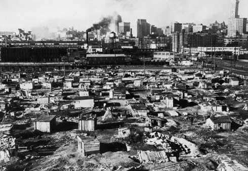 Shanty Town during the Great Depression