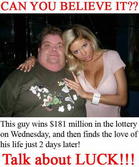 An incredibly lucky millionaire